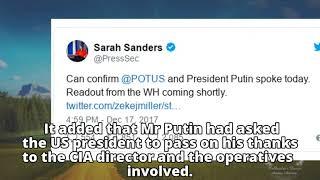 Trump Putin call: CIA 'helped stop Russia terror attack'