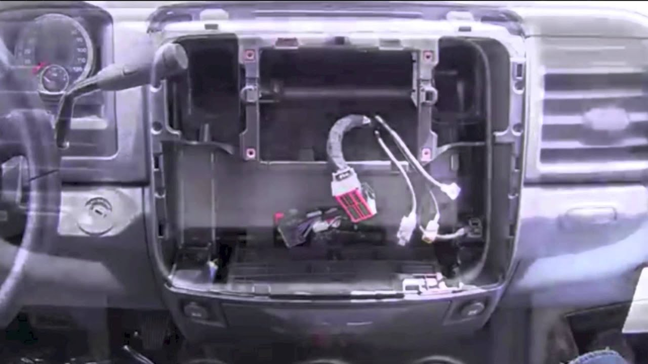 maxresdefault how to remove dash 2013 2014 dodge ram 1500 and install new stereo Ford Radio Wiring Diagram at bayanpartner.co