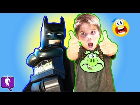 HobbyPig + Batman Find Surprises! Candy and Play-Doh Fun with Bunny Slinky HobbyKidsTV