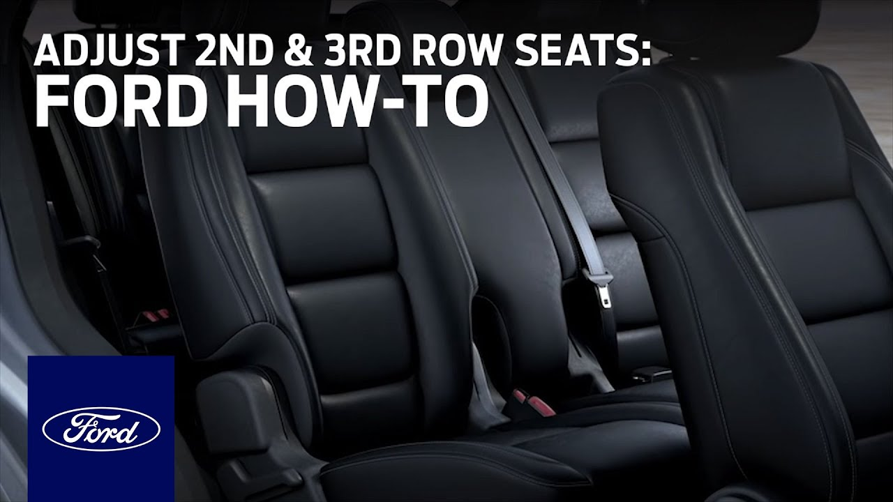 suv with 3 rows and captains chairs phillips collection seat belt chair adjusting 2nd 3rd row seats ford how to youtube