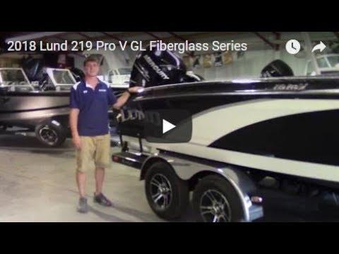 2018 Lund 219 Pro V GL Fiberglass Series