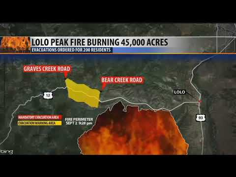 Lolo Peak Fire At 45 000 Acres Youtube