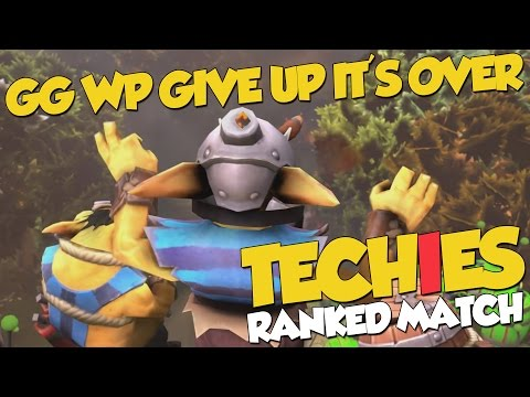 """""""GGWP GIVE UP IT'S OVER"""" - DotA 2 Techies Full Ranked Match"""