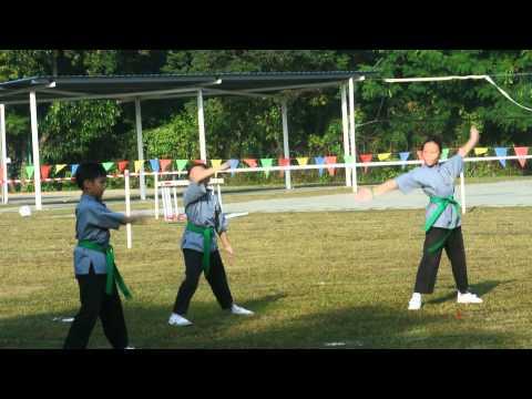 SJKC K3 Sports Day 2014 Wushu Performance