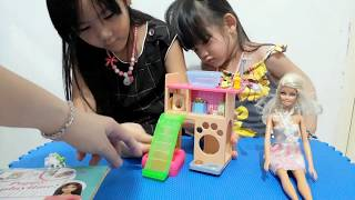 unboxing and play barbie pet shop 65f95b9485