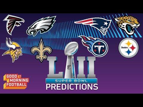 Super Bowl LII Predictions | Good Morning Football | NFL Network