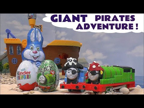 Thomas and Friends Play Doh Pirate Surprise Eggs Giant Kinder Egg Bunny Play-Doh Thomas Toys Tomas