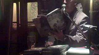 Chris Agee reading at The White House, Limerick, Ireland