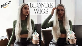Gambar cover Platinum Blonde AMAZON WIGS // Review