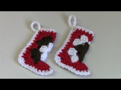 Haken Tutorial 123 Kerstsokje Youtube