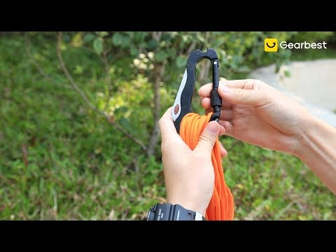 Outdoor Multifunctional Survival Tool 6-in-1 Carabiner – Gearbest.com