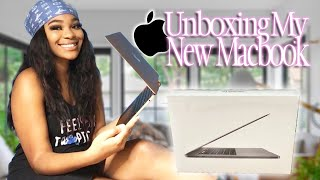 """UNBOXING MY NEW 2020 MACBOOK AIR 13""""+ setup"""