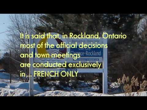 Rockland ONTARIO - Overrun and taken over by the French
