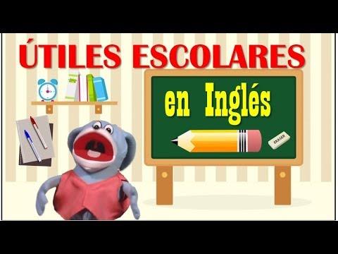 útiles Escolares En Inglés Para Niños
