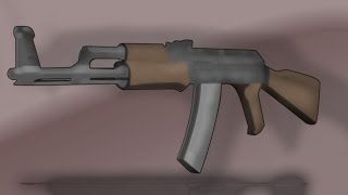 Dessin animé AK-47 Speed Art!