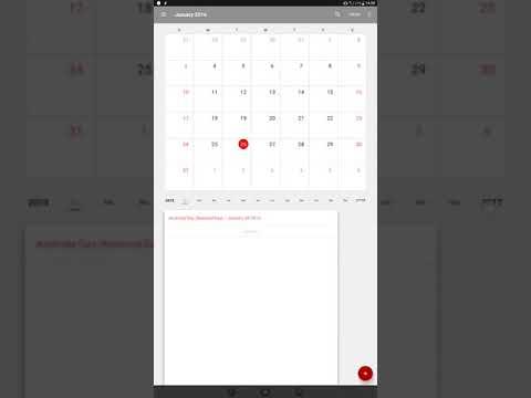 Calendar: Public holiday display bug