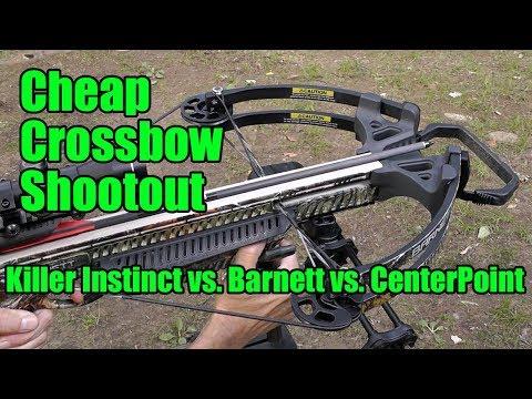 Cheap Crossbow Shootout: Killer Instinct Vs. CenterPoint Vs. Barnett