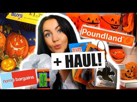 HOME BARGAINS HALLOWEEN & POUNDLAND HAUL 🎃