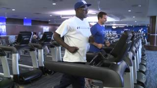 New York Giants Stephen Baker Trains for a 5K
