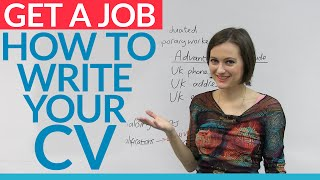 Job Skills: Prepare your English CV for a job in the UK