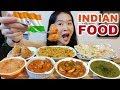 INDIAN FOOD!! Butter Chicken, Samosa, Kadai Paneer, Saag Gosht, Biryani, Naan | Eating Show Mukbang