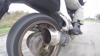Delkevic Exhaust on Honda VFR 800 F 2014