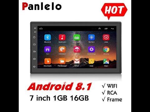 16 G Panlelo Android Autoradio Quad Core 1 G 32 G SD Card GPS 2 Din 7 Pouces Full HD /Écran Tactile de Tableau de Bord Syst/ème vid/éo Bluetooth WiFi Cam/éra de recul AM//FM//RDS Radio