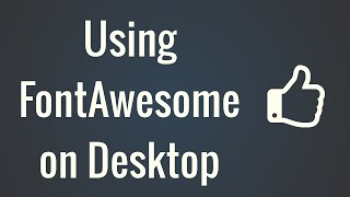 Using Font Awesome in Desktop Applications OS X