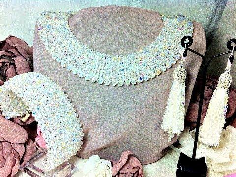 Wedding jewelry set , Crystal jewelry, Bridal Jewelry.