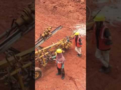 Rock drilling and shot creting done by Shree Jay Hanuman Contractors, Navi Mumbai
