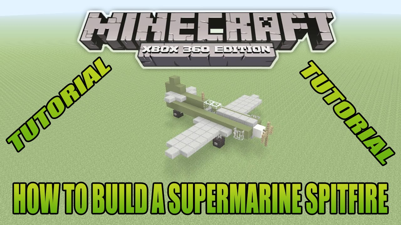 how to build a spitfire in minecraft