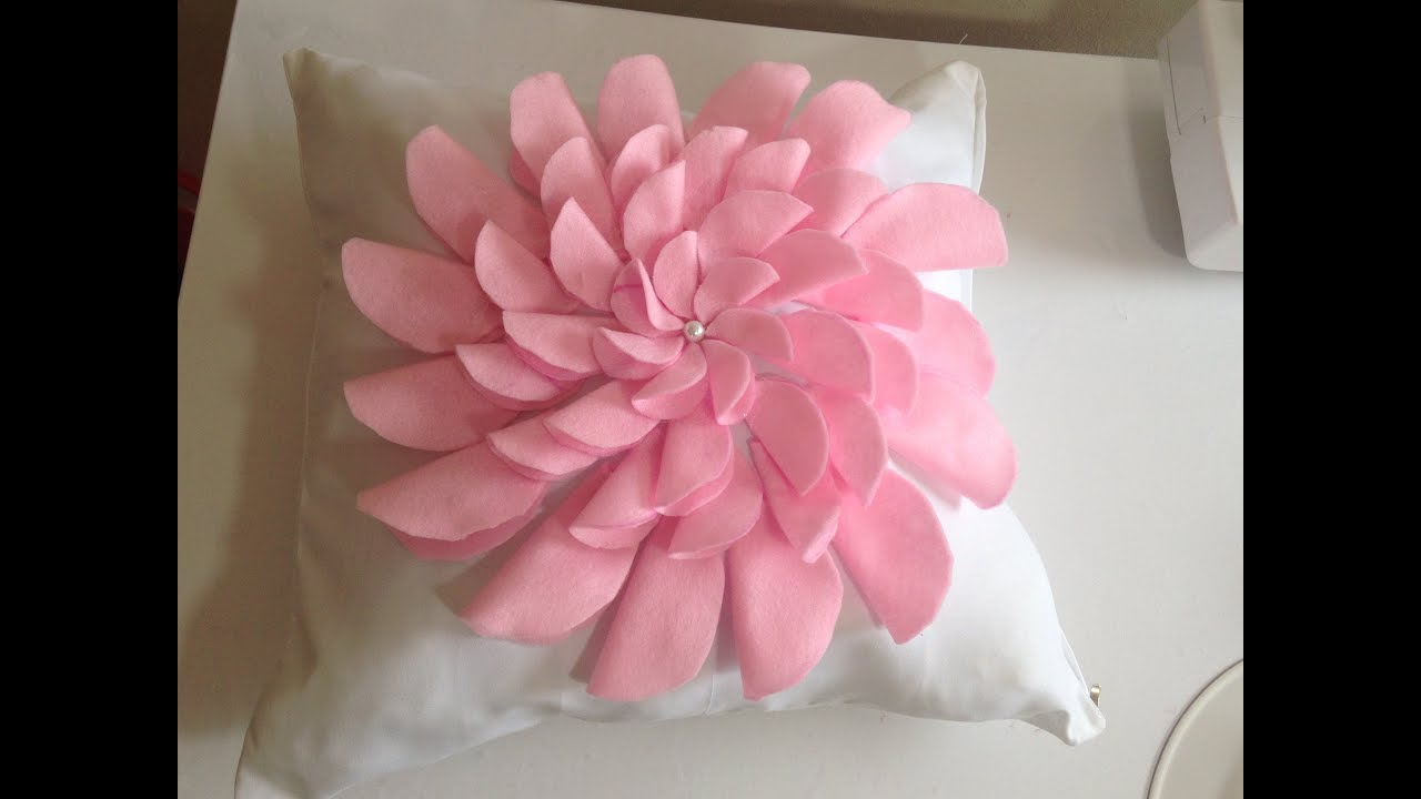 Pink Princess Flower Cushion Ideas Youtube