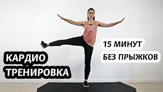 Кардио тренировка без прыжков 15 минут