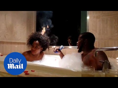 Woman S Hair Sets On Fire During Romantic Bath With Husband Daily Mail