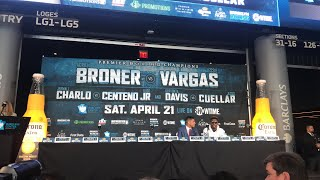 LITTT Adrian Broner talks Spanish to Jessie Vargas - press conference- EsNews