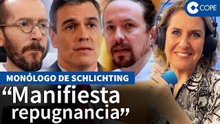 """Schlichting, harta de Sánchez y su """"mezquindad"""""""