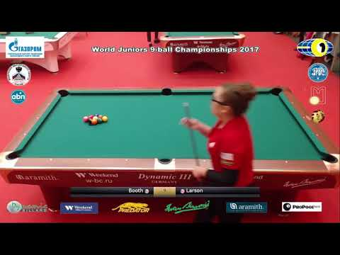 QF Booth Alex Jo v Larson April Rose World Juniors 9 ball Championship 2017