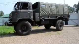 Газ-66. Езда боком(задние поворотные колеса., 2015-07-30T22:18:47.000Z)