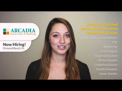 Featured Job: Multiple Positions with Arcadia Home Care & Staffing in Daytona Beach, FL