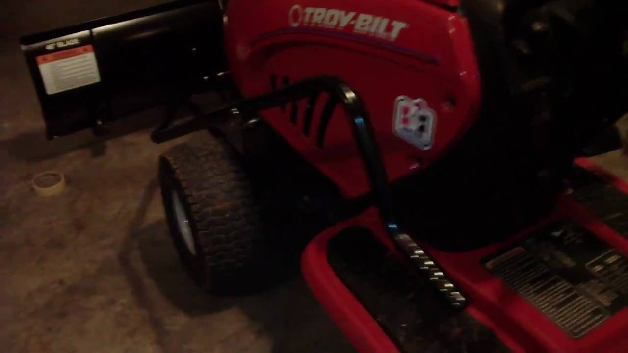 Troy Bilt Intek 17hp Mower With Snow Plow Attachment Mtd Hd Video
