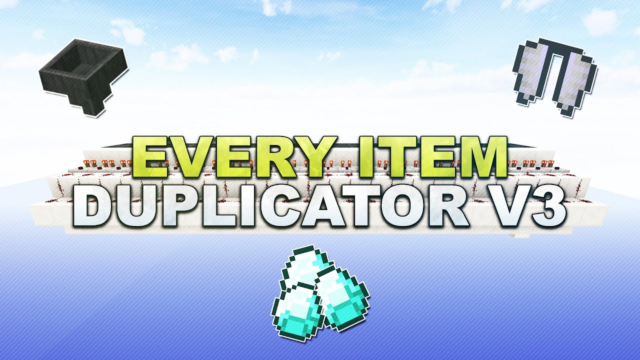 Minecraft Every Item Duplicator V Items Duplizieren Tutorial - Minecraft hauser klonen