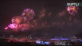 Fireworks over Moscow to celebrate Defender of the Fatherland Day