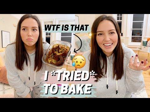 i *tried* to bake banana bread 🍌 fail