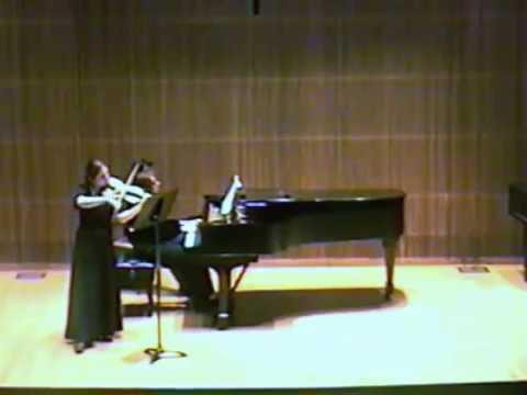 Anita Mishoukova Recitals in 1996,  part 2 ( Brahms)