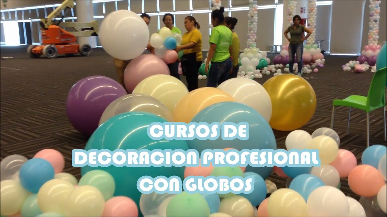Decoracion con globos tema vintage youtube for Decoracion simple con globos