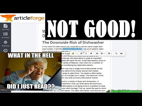 Article Forge Review  - BAD! - ArticleForge vs Article Builder Content Generation Tool