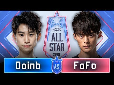 Doinb Vs FoFo 頂尖對決!LMS最強中路大戰LPL最強中路!| 1v1 單挑賽 - 16 強 | 2019 全明星賽