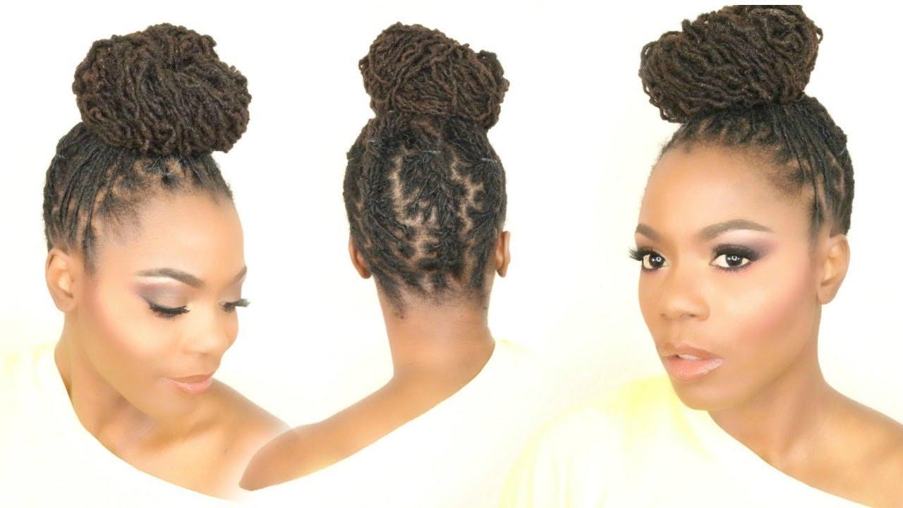 Cornrow Back and Bun LOC Hairstyle Tutorial/Jungle Barbie - YouTube