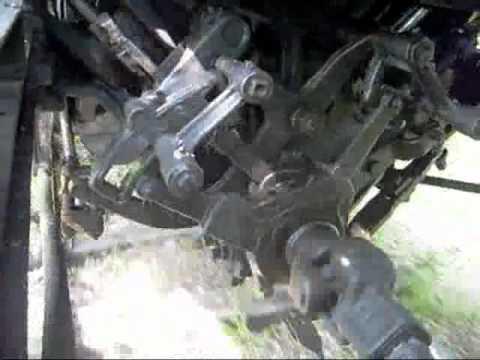Heisler Steam Logging Locomotive V-Twin engine valve motion.