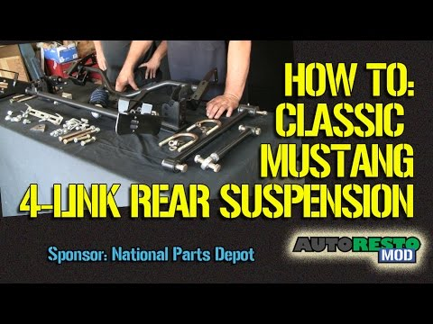 Classic Mustang Cougar New Ridetech 4 link rear suspension Episode 215  Autorestomod